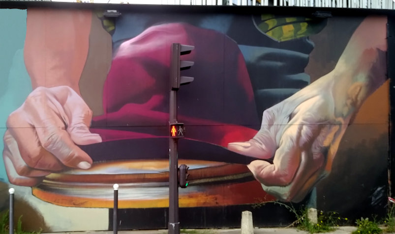 Street Art, 2 place Skanderbeg, 19th Arrondissement, Paris, France