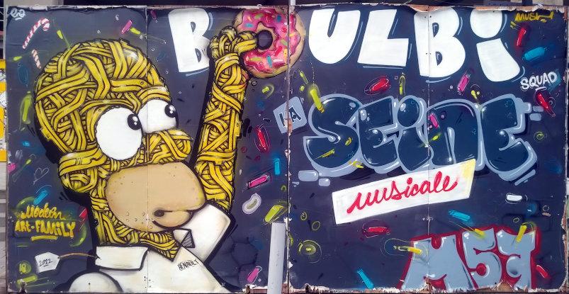 Street Art, cours de l'Île Seguin, Boulogne-Billancourt, France