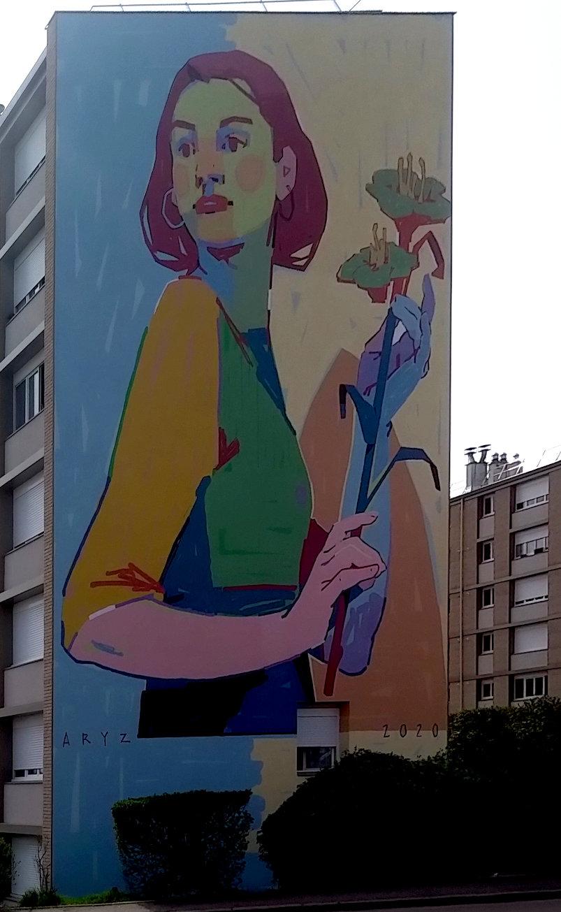 Street Art, 14 allée Emmanuel Chabrier, Versaiiles, France