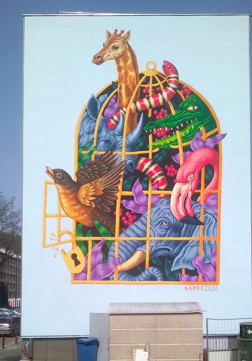 Street Art, 2 rue Georges Bizet, Versailles, France