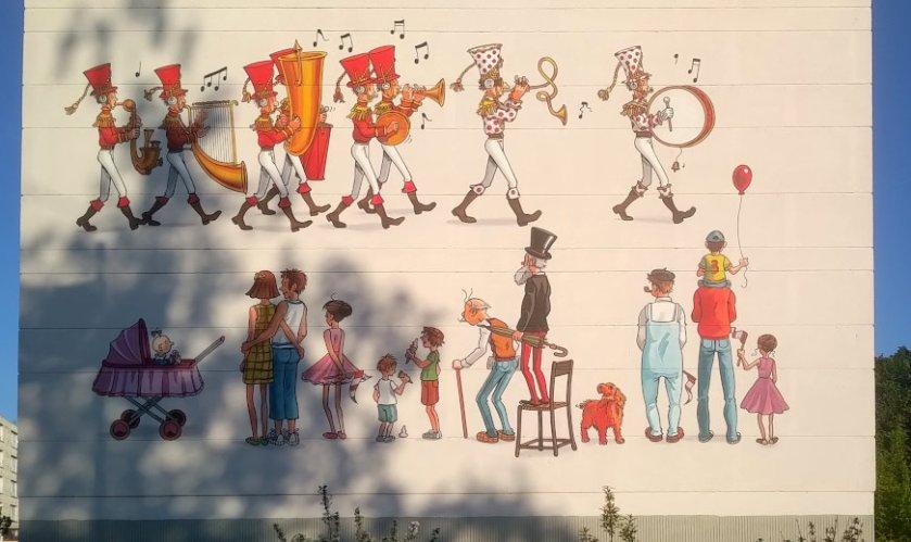 Street Art, Résidence la Grande Garenne, boulevard Jean XXIII, Angoulême, France