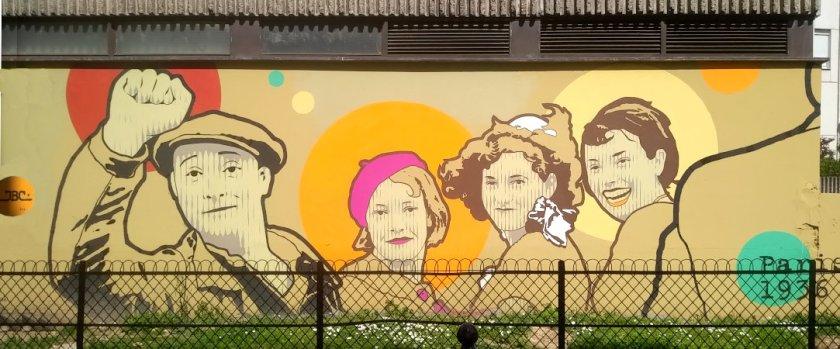 Street Art, 3 rue Pauly, Paris, France