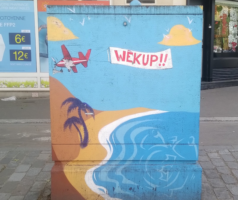 Street Art, 60 boulevard Brune, Paris, France