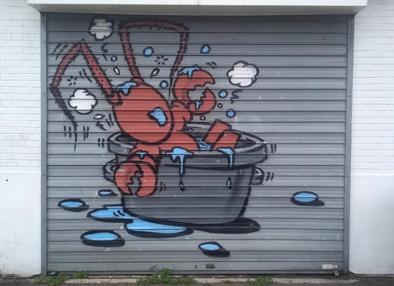 Street Art, pont Docteur Paul Denis, Le Havre, France