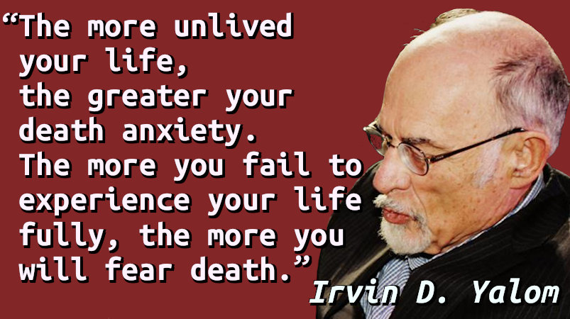 Quote with a portrait of Irvin D. Yalom.