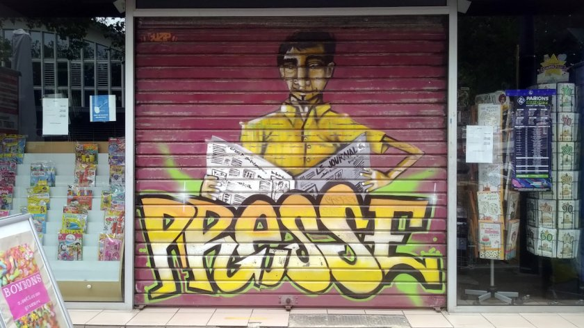 Street Art, 27 place des Halles Centrales, Le Havre, France