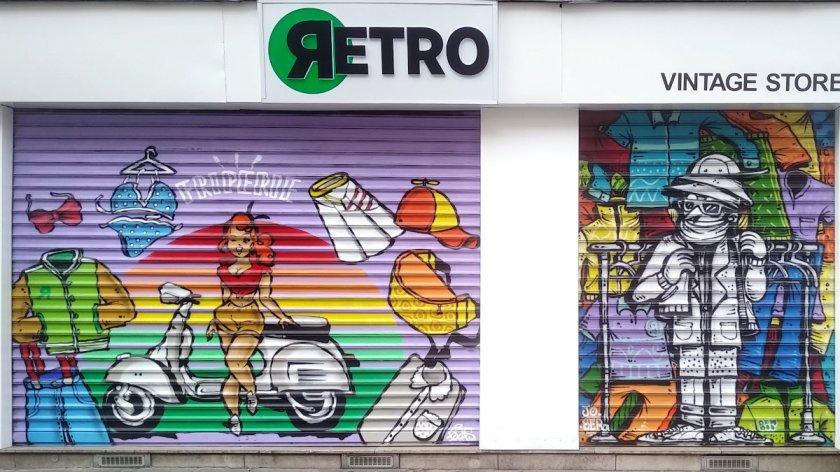 Street Art, 20 rue de Turbigo, Paris, France