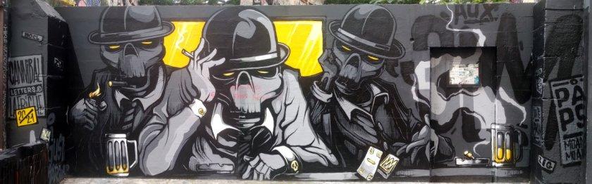 Street Art, 11 rue des Trois Couronnes, 11th Arrondissement, Paris, France