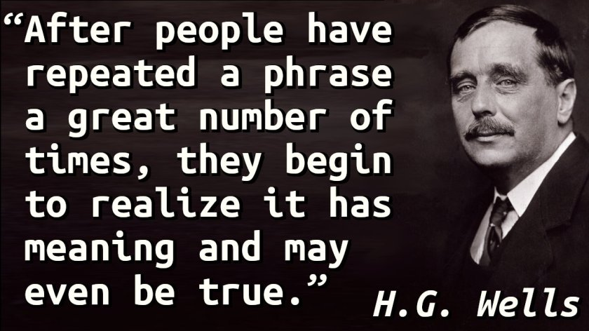 Quote with a picture of H.G. Wells.