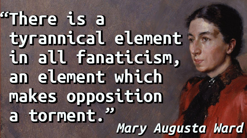 Quote with a painted portrait of Mary Augusta Ward.