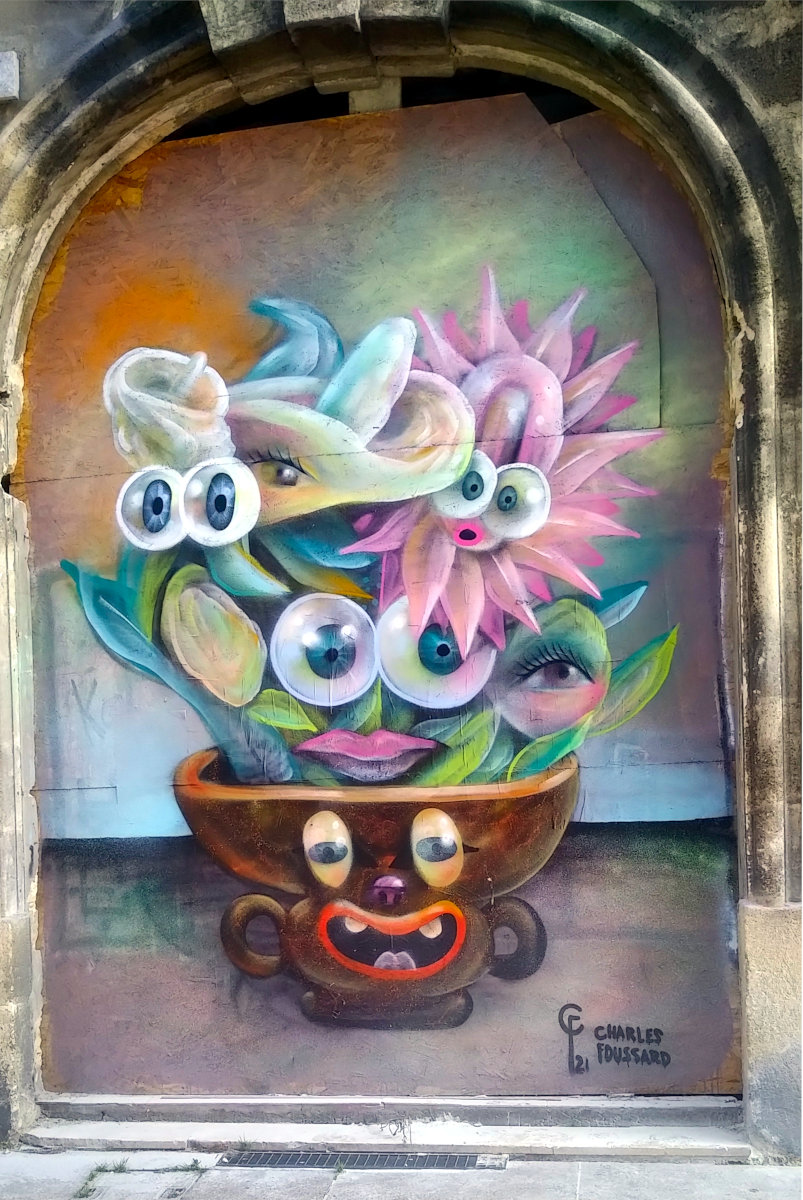 Street Art, 12 place de la Victoire, Bordeaux, France