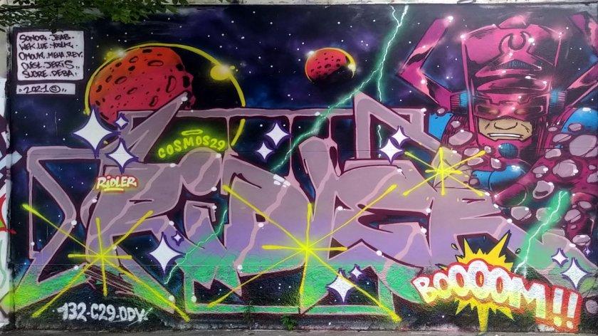 Street Art, 82 rue de la Font au Roi, 11th Arrondissement, Paris, France